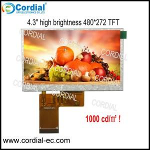 4.3 inch High Brightness TFT LCD MODULE CT043BLI49